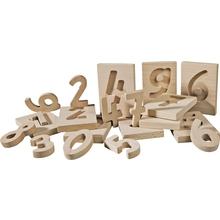 Holzzahlen und Tafeln 0 - 9