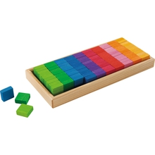 "Sinneskasten ""Regenbogen-Miniquadrate"""