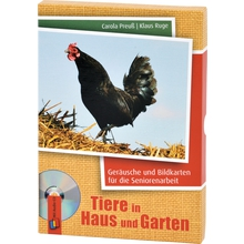 Geräusche und Bildkarten: Tiere in Haus und Garten