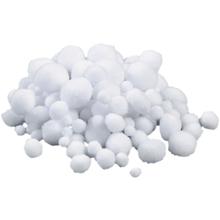 Pompon-Set, weiß