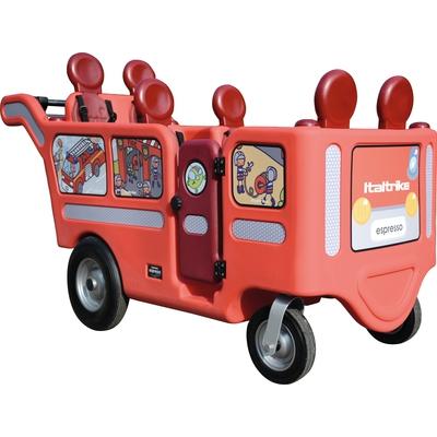 Wehrfritz-Krippenbus mit Motor im Feuerwehr-Design