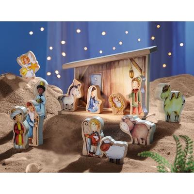 Kinder Weihnachtskrippe.Haba Spielkrippe Weihnachten Feste Geschenke Krippe