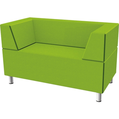 Relax-Sofa, rechteckig mit 2 Rückenlehnen