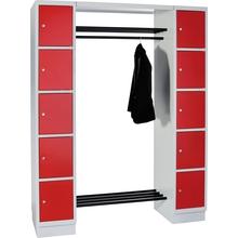 Garderobe mit 10 Schließfächern