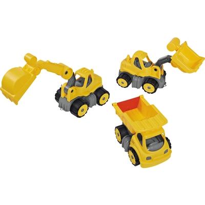 Sand-Baufahrzeuge