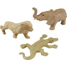 Pappmaché-Tiere