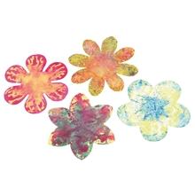Fließ-Papier Blumen
