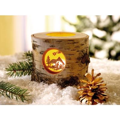 Lichterstamm Krippe Winter Weihnachten Saisonales Basteln