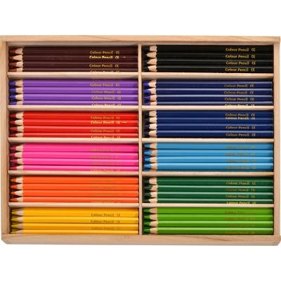 Stifte im Holzkasten