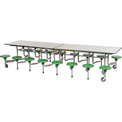 16er-Tisch-Sitz-Kombination (rechteckig)