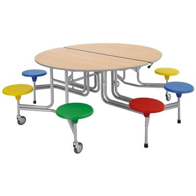 8er-Tisch-Sitz-Kombination (oval)