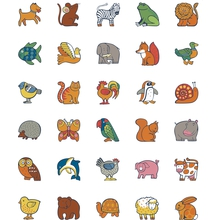 """Selbstklebende Papier-Erkennungsschilder """"Tiere"""""""