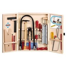 Laubsägeschrank und Werkzeuge