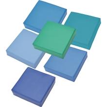 Sitzkissen-Set, türkis/blau