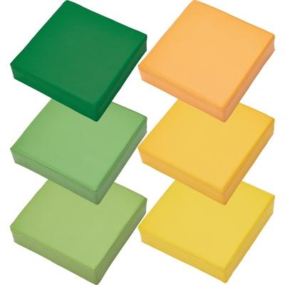 Sitzkissen-Set grün/orange