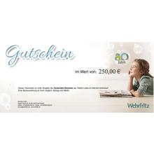 Waren-Gutschein 250 Euro