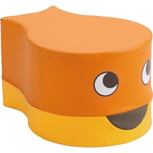 """Sitzhocker """"Fisch"""", orange"""