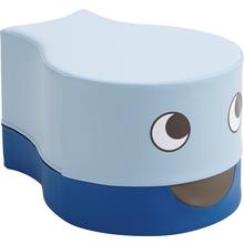 Sitzhocker Fisch blau