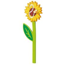 """Applikation """"Sonnenblume mit Biene"""""""