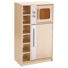 Hochschrank mit Kühlschrank und Mikrowelle