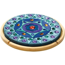 Lege-Mandala, blau