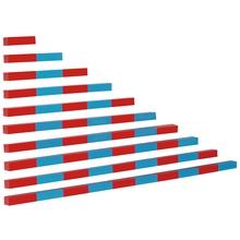 Rot-blaue Stangen (Numerische Stangen)