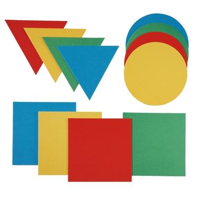 Geometrische Formen zum Hüpfen