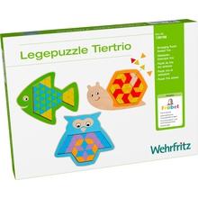 """Fröbel Legepuzzle """"Tiertrio"""""""