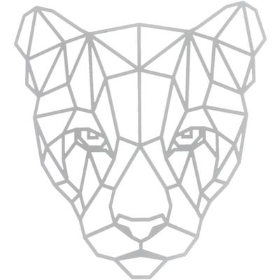 "Schablone ""Panther, polygon\"