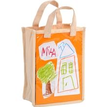 Baumwolltasche mit Sichttasche