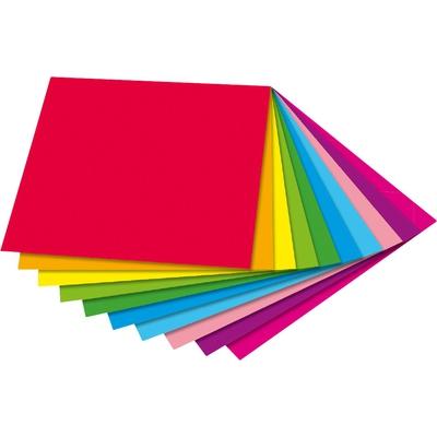 Faltblätter, zweifarbig 20 x 20 cm