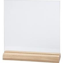 Glasplatte mit Halter, groß