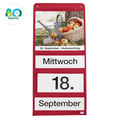 Dauerkalender-Set, rot