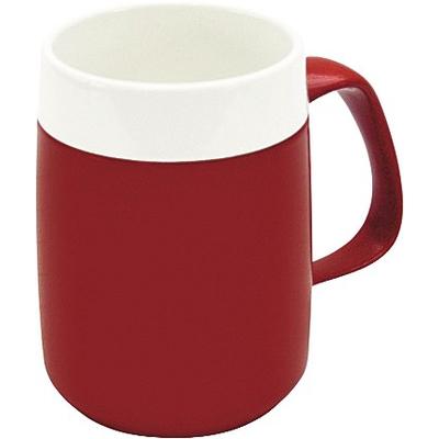Thermobecher, rot-weiß