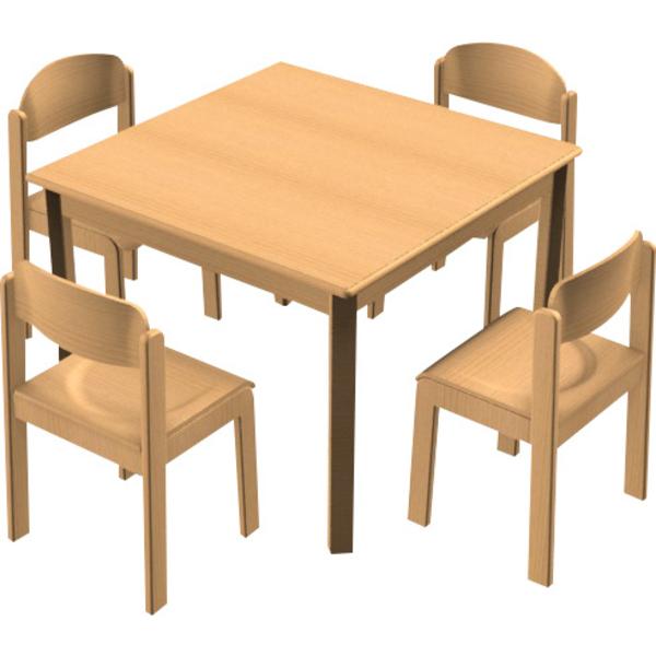 Stuhl Tisch Kombination 4 Tischgruppen