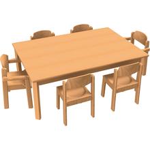 Stuhl-Tisch-Kombination 6