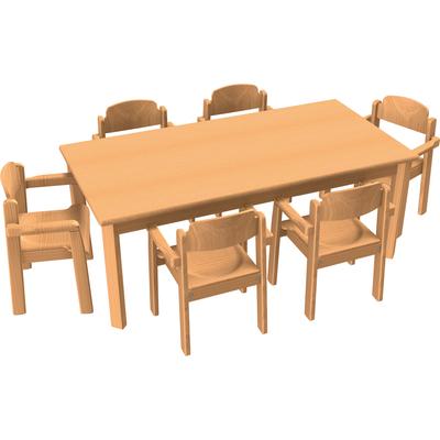 Stuhl Tisch Kombination 6 Tischgruppen Möbel Raumgestaltung