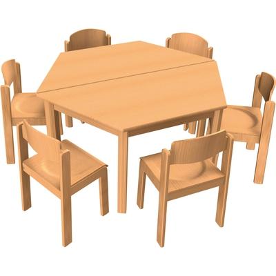 Stuhl-Tisch-Kombination 8