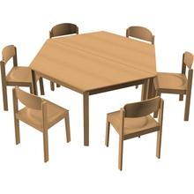 Stuhl-Tisch-Kombination 12