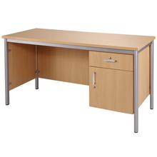 Lehrertisch mit Front-und Seitenblenden