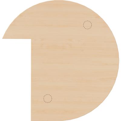 Dreiviertelkreis-Anbautisch