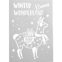 "Schablone ""Winter-Lama"""