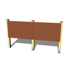 Doppel-Zeichentafel (Holz/Metall)