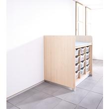 Wickelanlage für 12 Kunststoffboxen