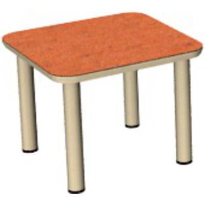 Sicherheitstisch mit Einzeltischbeinen, Massivholz lackiert