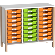 Regalschrank für Materialboxen