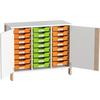 Doppeltürenschrank für Materialboxen