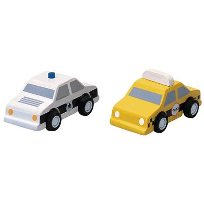 """Holzauto-Set """"Polizei + Taxi"""""""