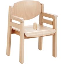"""Armlehnenstuhl """"Favorit"""" mit Seitenstreben und Sitzknopf"""