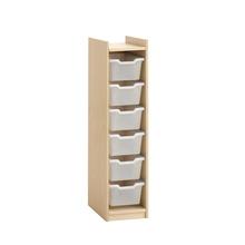 Stauraumschrank für 6 Kunststoffboxen